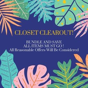 CLOSET CLEAROUT!